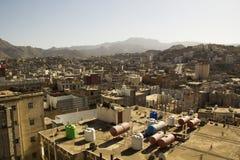 Typische architectuur van Yemen in Ibb, Yemen Royalty-vrije Stock Afbeelding