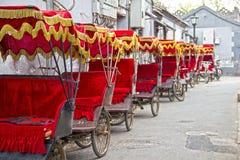 Typische Aziatische riksja's Stock Foto's