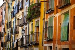 Typische Balkone von Cuenca, Spanien Stockfotografie