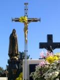Typische begraafplaats Stock Foto's