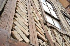 Typische bouw van de oude huizen in Turkije Stock Afbeelding