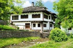 Typische Bulgaarse architectuur van de periode van Ottomaneempiri Royalty-vrije Stock Foto's