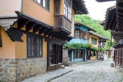 Typische Bulgaarse architectuur van de periode van Ottomaneempiri Royalty-vrije Stock Foto