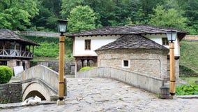 Typische Bulgaarse architectuur van de periode van Ottomaneempiri Stock Afbeeldingen
