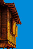 Typische Bulgaarse houten architectuur Royalty-vrije Stock Foto's