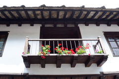 Typische bulgarische Architektur vom Zeitraum von Osmane empiri Lizenzfreie Stockfotografie