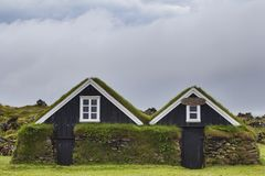Typische Cabines in IJsland, Rif, Juli 2014 stock foto's