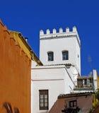 Typische $ce-andalusisch huizen in Sevilla Royalty-vrije Stock Fotografie