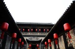 Typische Chinese architectuur, binnenplaats royalty-vrije stock afbeelding
