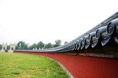 Typische Chinese architectuur, de muur van China Stock Afbeelding