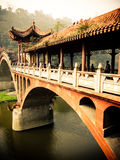 Typische Chinese brug Li-Jang Stock Afbeelding