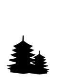 Typische Chinese pagode Royalty-vrije Stock Afbeeldingen