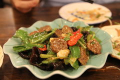 Typische chinesische Nahrung Stockfotografie