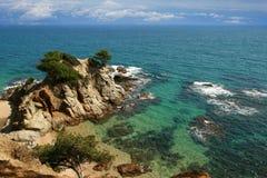 Typische Costa Brava Landschaft Stockbild
