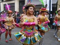 Typische dans van Puno, Peru royalty-vrije stock fotografie