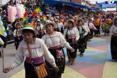 Typische Dansers in Oruro Carnaval, Bolivië stock afbeelding