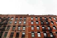 Typische de Stadsflatgebouwen van New York Royalty-vrije Stock Foto