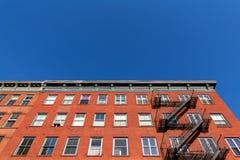 Typische de Stadsflatgebouwen van New York Royalty-vrije Stock Afbeeldingen