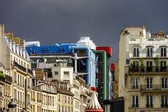 Typische de straatmening van Parijs, de zomerdag Stock Afbeeldingen