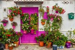 Typische decoratie van een $ce-andalusisch straat royalty-vrije stock foto
