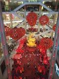 Typische Dekorationen des Chinesischen Neujahrsfests in Malaysia Lizenzfreie Stockfotografie