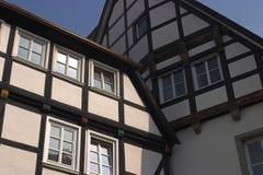 Typische deutsche Häuser Lizenzfreies Stockfoto