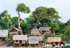 Typische dorpsscène van lokale Birmaan Stock Foto