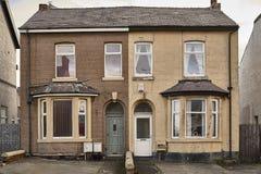 Typische englische Häuser stockfotos