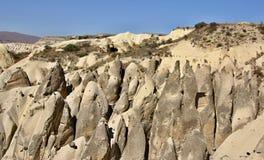 Typische Felsformation in Cappadocia Lizenzfreie Stockfotografie