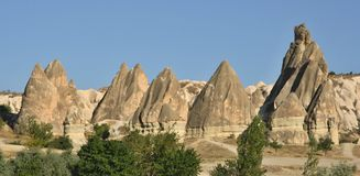 Typische Felsformation in Cappadocia Lizenzfreie Stockbilder