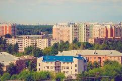 Typische flatgebouwen stock afbeelding