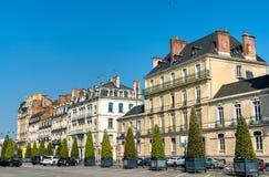 Typische Franse gebouwen in de stad van Rennes stock foto's