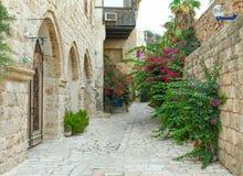 Typische Gasse in Jaffa stockfotos