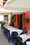 Typische Gaststätte in Rom Stockfotos