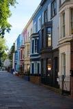 Typische Gebäude in Notting Hill lizenzfreie stockbilder