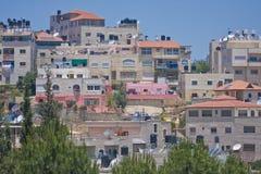 Typische gebouwen in Arabisch dorp dichtbij Jeruzalem Stock Afbeelding