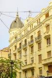Typische gebouwen, in Madrid stock foto's
