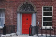 Typische Georgische deuropeningen in Dublin Stock Fotografie