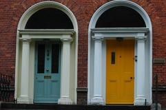 Typische Georgische deuropeningen in Dublin Royalty-vrije Stock Foto's