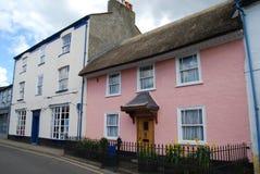 Typische georgische Häuser in Axminster, Devon Stockbild