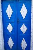 Typische griechische Tür Stockfotografie
