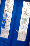 Typische griechische Tür Stockfoto