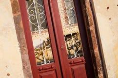 Typische griechische Tür Stockfotos