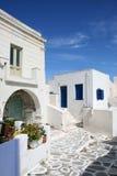 Typische Griekse eilandhuizen - Paros Eiland, Griekenland Royalty-vrije Stock Foto's