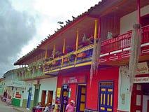 Typische Häuser Stockbild