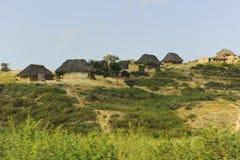Typische Häuser in Afrika Stockfotografie