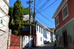 Typische Häuser im Dorf Rosia Montana, Siebenbürgen Stockbild