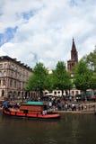 Typische Häuser in Straßburg Stockfotografie