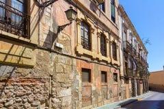 Typische Häuser von Almeria, Spanien Lizenzfreies Stockbild