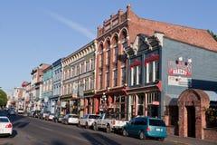 Typische historische Straße Victoria Kanada Stockfotos
